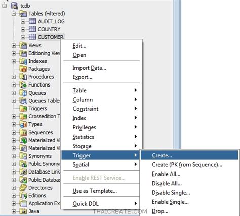 tutorial oracle trigger การใช งาน trigger database oracle coding trip