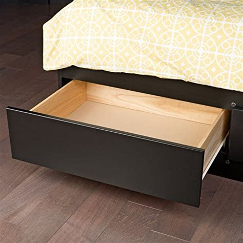queen platform bed with storage drawers black queen mate s platform storage bed with 6 drawers ebay