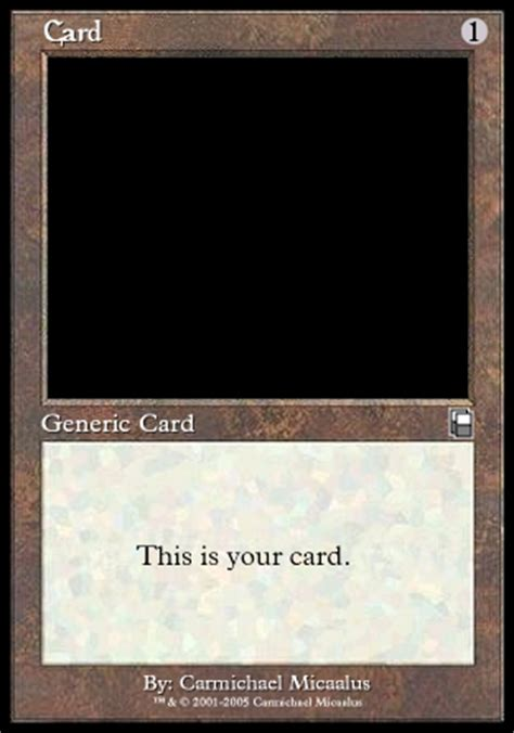 Mtg Card Template by Blank Magic Card By Carmichael Micaalus On Deviantart