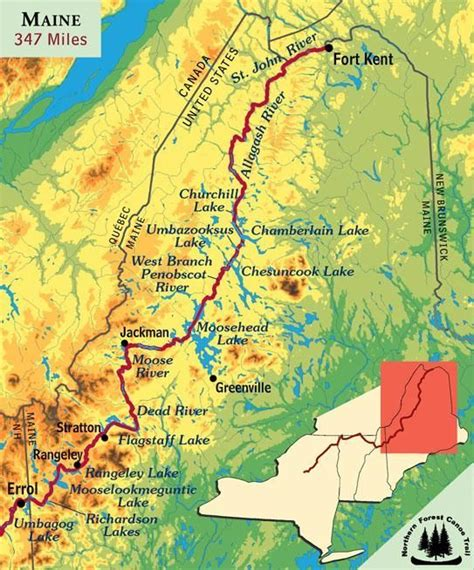 map of new hshire and maine the northern forest canoe trail nfct connects northern new york vermont qu 233 bec new