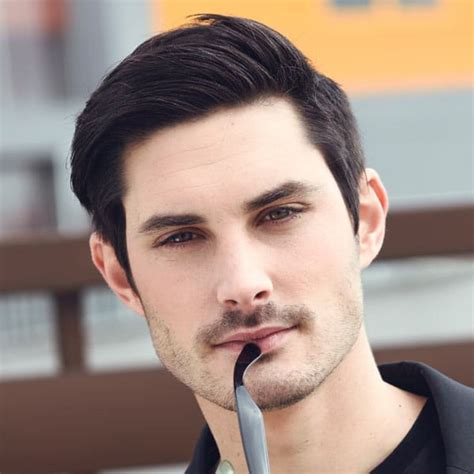 long men s haircut with simple styling behind the ear best thick hair hairstyles for men 2017