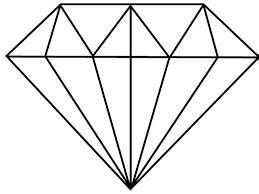 simple diamond drawing google search pinteres