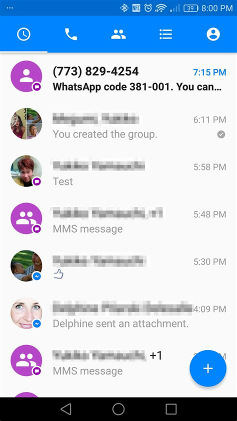 messenger for android adds voice calls text messaging to messenger for android