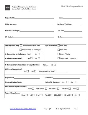 New Hire Form Template Edit Online Fill Out Download Forms In Word Pdf From New Hire Request Form Template