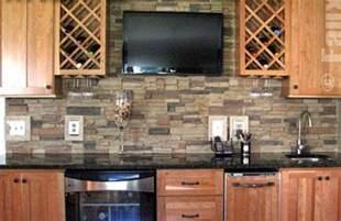 Faux Stone Kitchen Backsplash by Beyond Mere Paint 7 Great Kitchen Wall Ideas Rock
