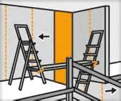 leiter auf treppe stellen problemstellen tapezieren ratgeber hornbach
