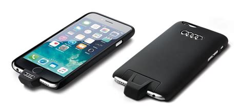 audis  iphone case offers wireless charging