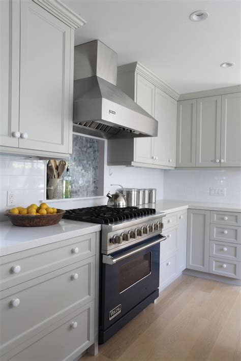 Light Gray Cabinets by Corner Desk Kitchen Benjamin