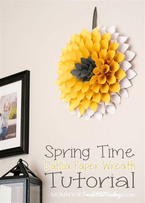 Paper Wreaths How To Make - how to make a paper wreath dahlia inspired 10 to