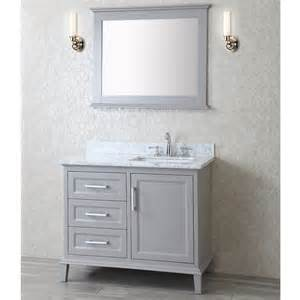 nantucket 42 inch single sink bathroom vanity set in taupe