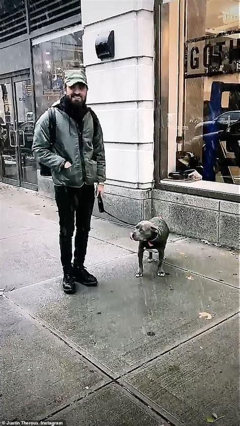 justin theroux dog justin theroux celebrates his dog kuma s first ever