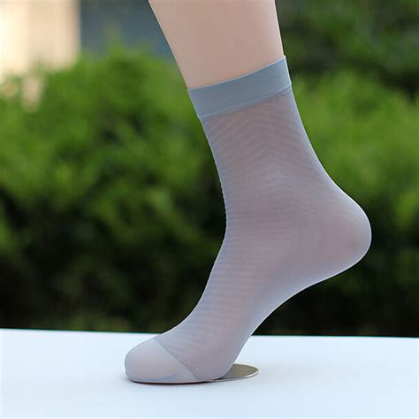 Sheer Socks new mens breathable ultra thin socks low cut