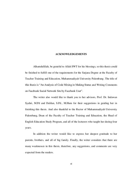 thesis acknowledgement allah acknowledgement allah thesis
