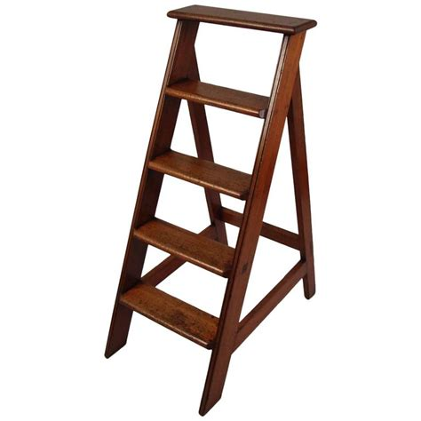 library ladders english mahogany library ladder at 1stdibs