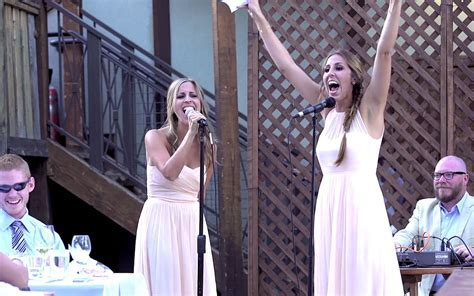 Two sisters give the best wedding toast ? in song! (VIDEO)