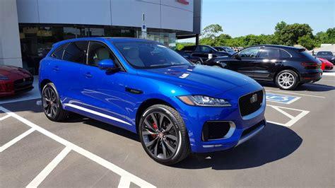 Jaguar Blue blue edition jaguar f pace suv