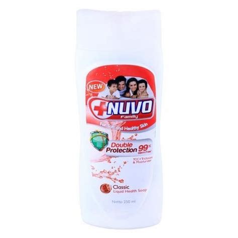Nuvo Soap Refil 250ml nuvo liquid soap botol merah 250ml