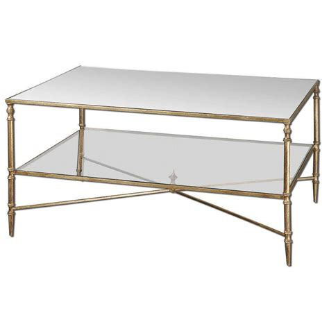 Mirrored Glass Coffee Table Uttermost 24276 Henzler Mirrored Glass Coffee Table Ebay