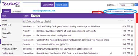 mail yahoo basic how to switch back to old yahoo mail basic version