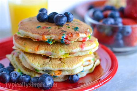 blueberry pancake recipe blueberry pancakes with sprinkles typically simple
