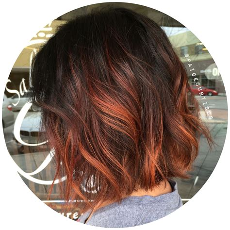 copper hair with white tuff styles short copper ombre personal work pinterest copper