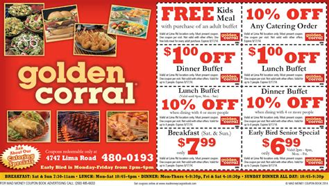 2014 golden corral coupons book covers