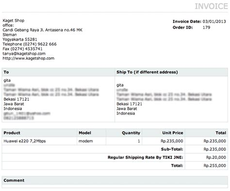 membuat laporan invoice keistimewaan toko online buatan kagetweb dibanding lainnya
