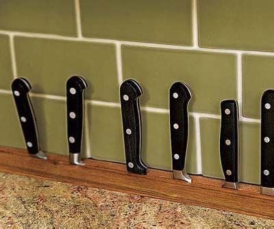 kitchen knife storage ideas built in countertop knife rack kitchen storage design