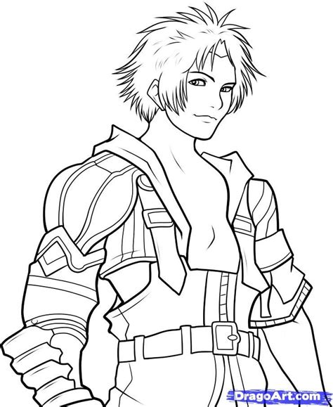 final fantasy coloring pages coloring home
