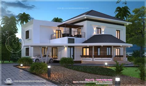 beautiful home exterior in 2446 square feet house design beautiful 3200 sq ft modern villa exterior home kerala plans