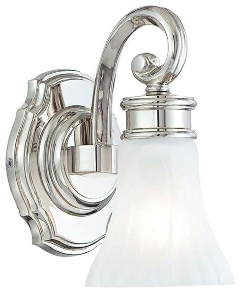 Traditional Bathroom Vanity Lights Metropolitan Bath Collection Fluted 9 1 4 Quot High Wall