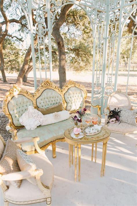 Colorful Settee Copper Plum Antique Gold Autumn Wedding Vintage