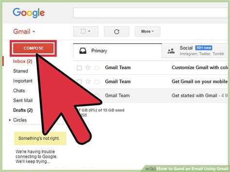 How To Find Through Email How To Send An Email Using Gmail With Pictures Wikihow