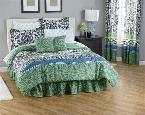 zebra damask king 20 piece bedroom comforter set animal print