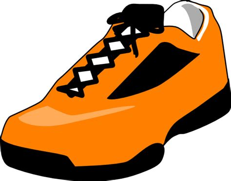 shoe clipart orange shoe clip at clker vector clip