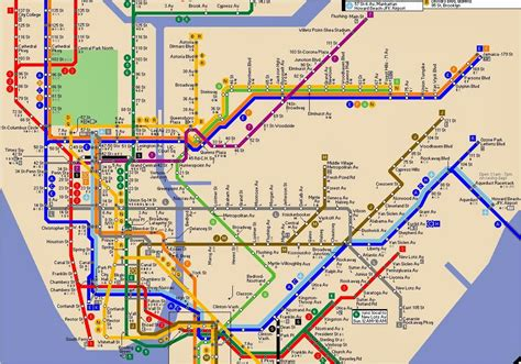 jfk airtrain map jfk airport subway map my