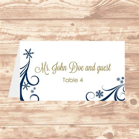 Table Card Template Wedding 5302 by Hermosa Diy Place Cards Templates Galer 237 A Ejemplo De