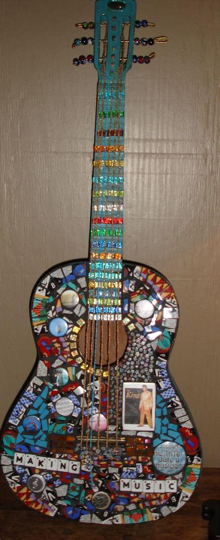 mosaic violin pattern 122 best mosaic guitars images on pinterest mosaic