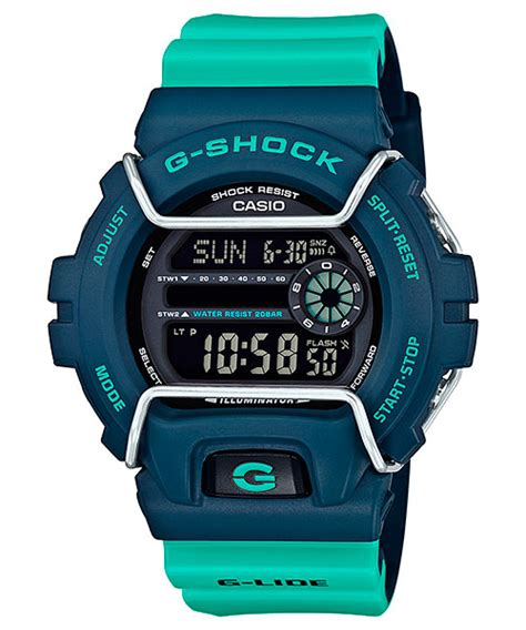 Casio G Shock Gls Black Huruf Blue g shock black blue green orange gls 6900