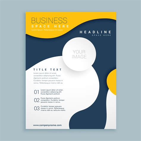 Yellow Cover Brochure Flyer Design Poster Leaflet Template For Y Download Free Vector Art Poster Template