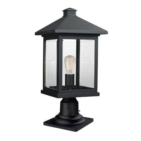 Pier Mount Outdoor Lighting Filament Design Malone 1 Light Black Outdoor Pier Mount Cli Jb047516 The Home Depot