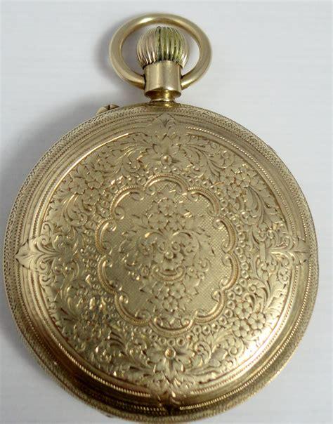 antique 18ct gold pocket hallmarked 1898
