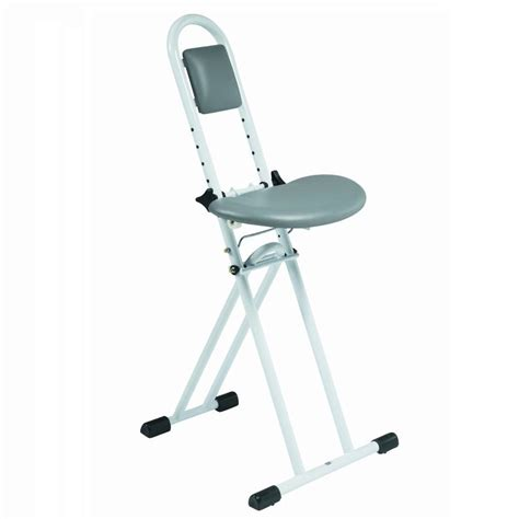 chair height stools folding all purpose ironing perching stool chair with
