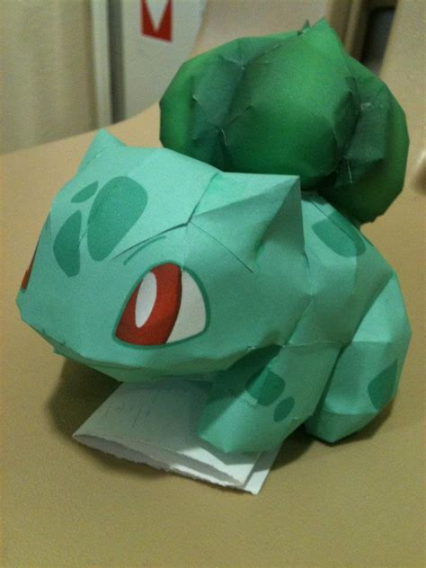 Papercraft Bulbasaur - finished bulbasaur papercraft by icethornstar on deviantart