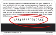 Omaha Steaks Reward Gift Card Code - omaha steaks gift card balance