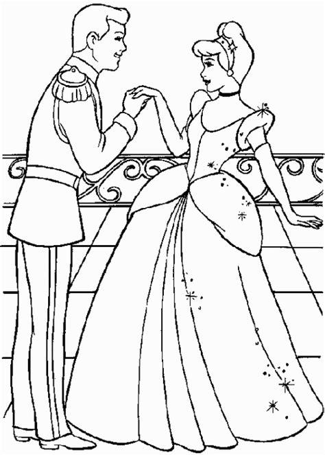 dibujos de princesas para colorear p gina 2 colorear cenicienta y el principe