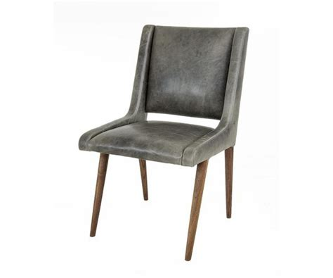 Grey Leather Dining Room Chairs Mid Century Dining Chair In Distressed Grey Leather Modshop