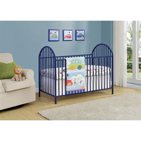 Cosco Baby Crib Cosco Prism Navy Metal Crib 5852496pcom The Home Depot