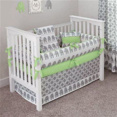amazon crib bedding custom boutique baby bedding ele green 5 pc crib