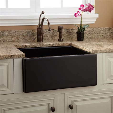Black Farm Sinks For Kitchens The 25 Best Fireclay Farmhouse Sink Ideas On Fireclay Sink Faucets For Farmhouse